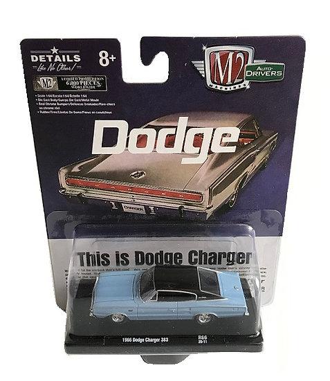 Machines AUTO-Drivers 1966 Dodge Charger 383 Dark Blue M2 1:64 DIECAST