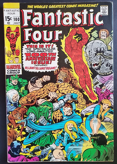 Fantastic Four (1961 1st Series) #100 FN/VF [100th Issue]