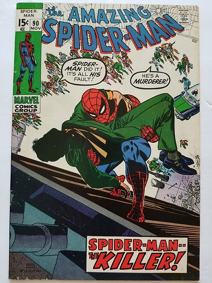 Amazing Spider-Man 90 VF- Death of Captain Stacey