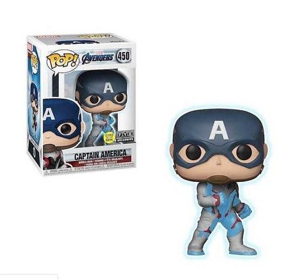 Funko Pop Marvel Avengers [GITD]Captain  America 450 FYE Exclusive