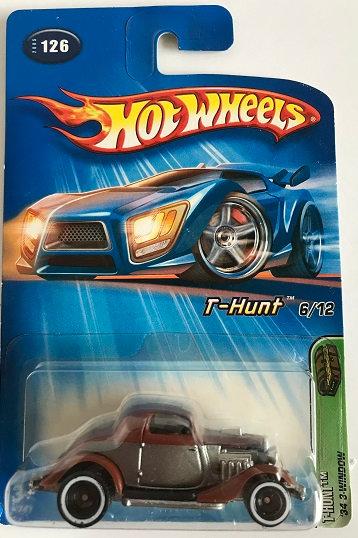Hot Wheels Treasure Hunts 05 '34 3-Window - 6/12 New Sealed