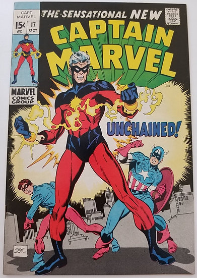 Captain Marvel (1968 1st Series Marvel) #17 VF+ 1st New Costume