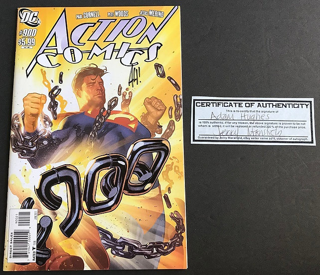 Action Comics #900 NM- [Adam Hughes Signed With COA]