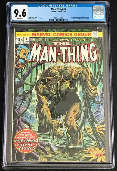 Man-Thing 1 CGC 9.6 White Pages