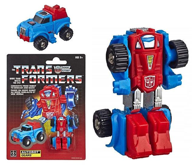 Transformers G1 Reissue Legion Autobot Gears Exclusive Figure [New, Open Bubble]