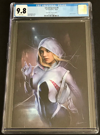 Ghost-Spider #1 Comic Mint Virgin Edition CGC 9.8 White Pages