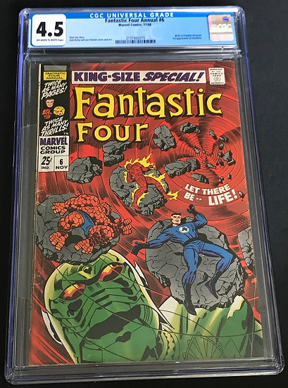 Fantastic Four (1961 1st Series) Annual #6 CGC 4.5 Off-White To White Pages