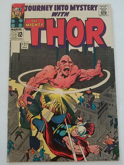 Thor (1962-1996 1st Series Journey Into Mystery) #121 FN Absorbing Man vs. Thor