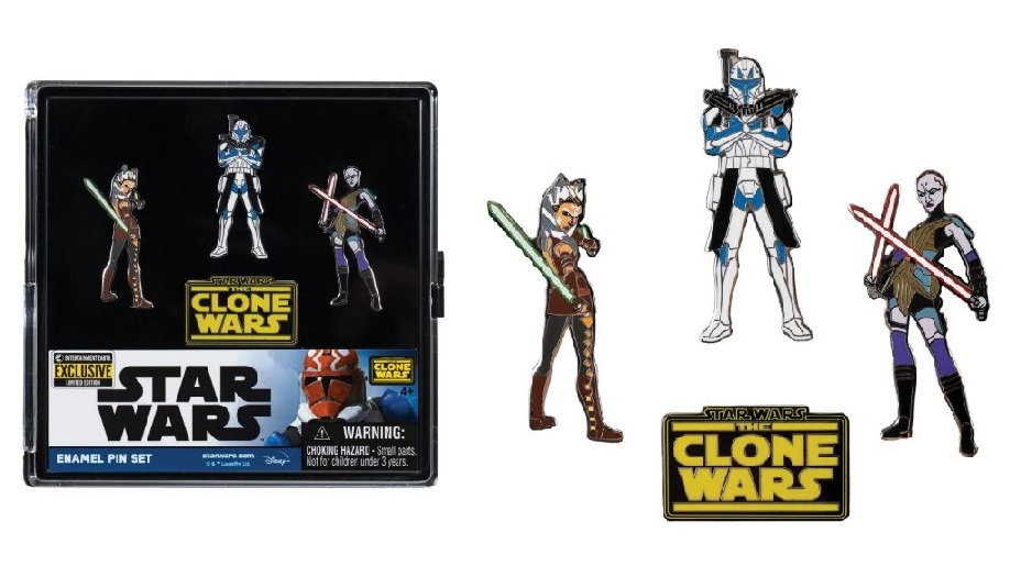 SDCC 2020 Exclusive Star Wars The Clone Wars Enamel Pin Set