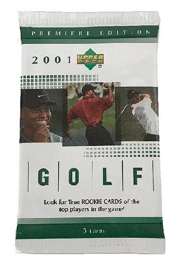 2001 Uppder Deck Golf Cards Pack (5 Cards)