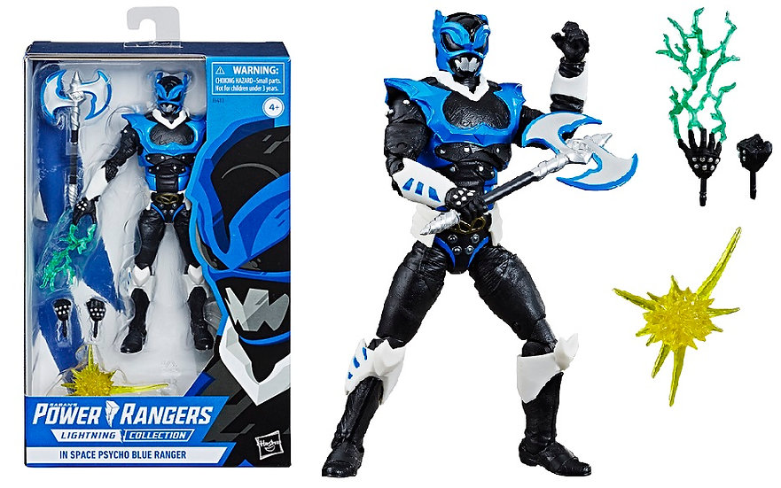 Power Rangers Lightning Collection In Space Psycho Blue Ranger Exclusive Figure