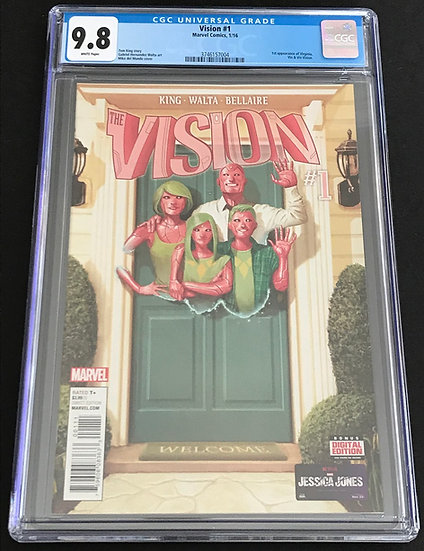 Vision (Marvel) #1 CGC 9.8 White Pages