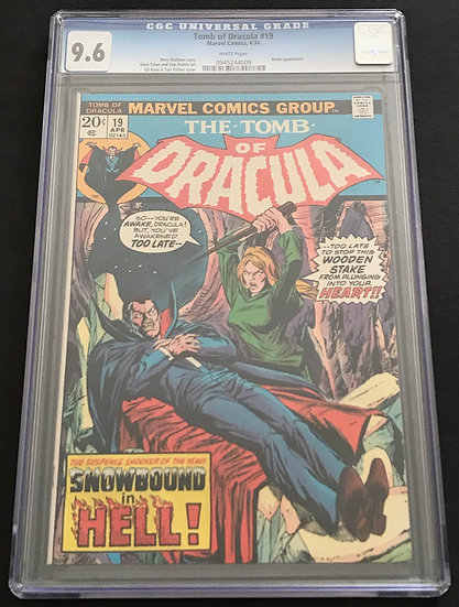 Tomb Of Dracula 19 CGC 9.6 White Pages