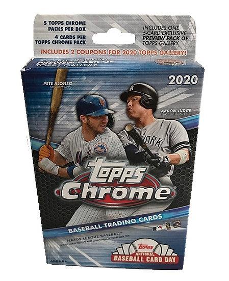 2020 Topps Chrome MLB Hanger Box