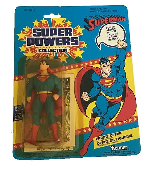 1984 Kenner Super Powers Superman  MOC, mint on sealed card.