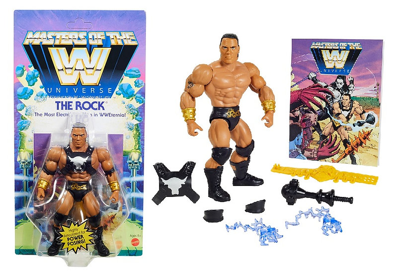 WWE Masters of the Universe The Rock Action Figure