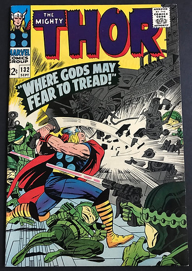 Thor (1962-1996 1st Series Journey Into Mystery) #132 VF+
