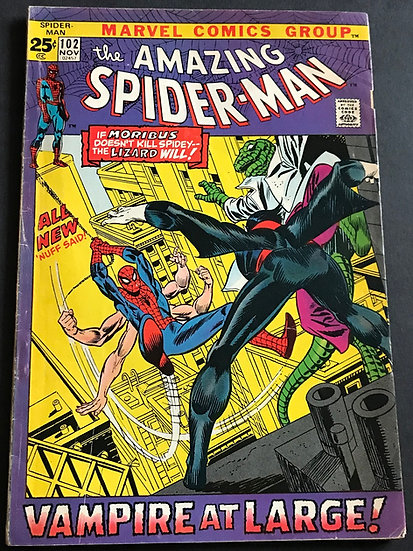 Amazing Spider-Man #102 (Marvel) FN- [2nd Appearance of Morbius]
