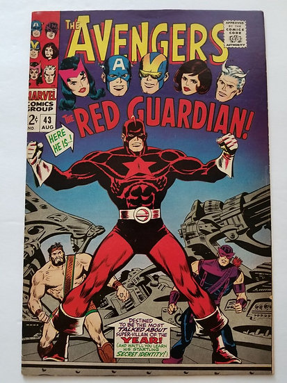 Avengers (Marvel ) #43 VF- [1st Appearance of Red Guardian]
