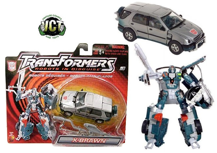 2001 Transformers Robots In Disguise Series Autobot Strong-Armed Fighter X-BRAWN