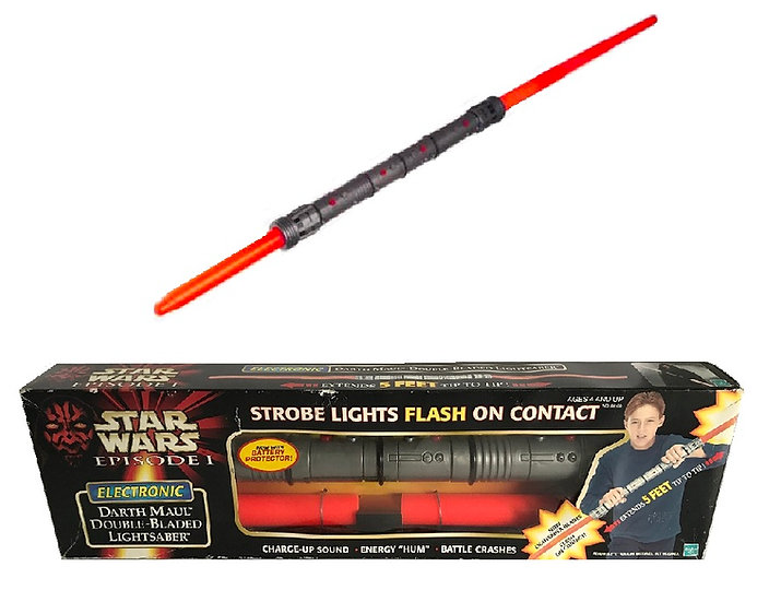 1998 Star Wars EP I Darth Maul Double-Bladed Lightsaber