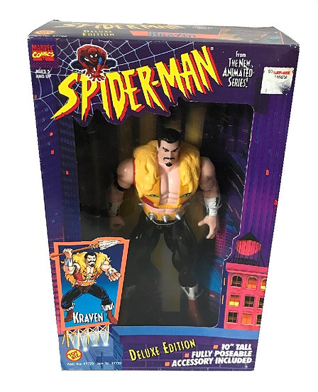 1994 Marvel Comics Spider-Man 10 inch Kraven Deluxe Edition By Toy Biz.