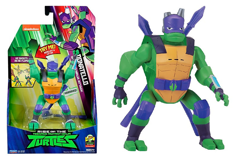 Rise of the Teenage Mutant Ninja Turtle Donatello Side Flip Attack Deluxe Figure