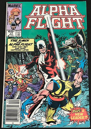 Alpha Flight (Marvel) #17 [X-Men Crossover]  VF/NM