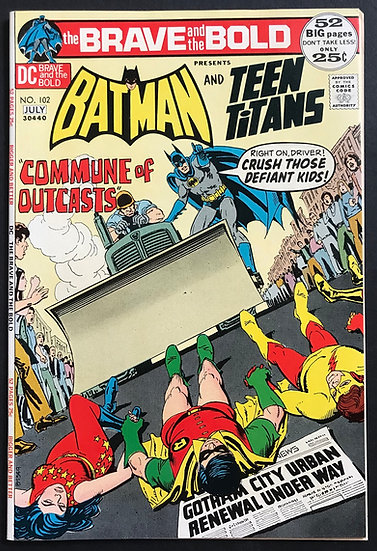 Brave and the Bold #102 VF+ [Early Teen Titans]