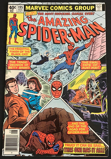 Amazing Spider-Man (Marvel) #195 VF+ [2nd Black Cat]