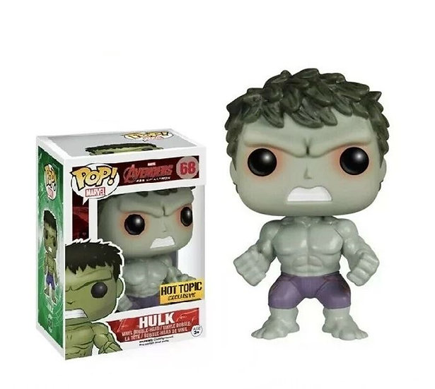 Funko Pop Marvel Avengers Age Of Ultron Hulk 68 Hot Topic Exclusive
