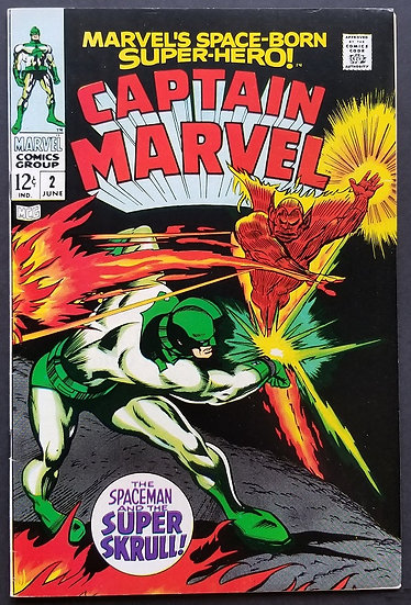 Captain Marvel (1968 1st Series Marvel) #2 NM-. Super Skrull appearance.