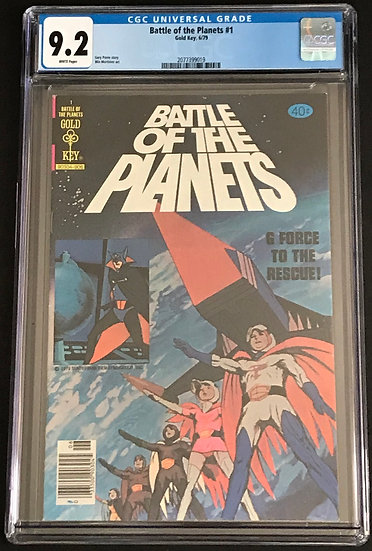Battle Of The Planets Gold Key #1 CGC 9.2 White Pages