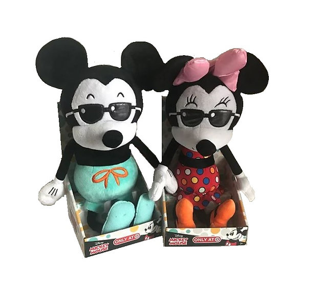 2018 Just Play 15 inch  Mickey Mouse And Minnie Mouse 90th Anniversary Plush