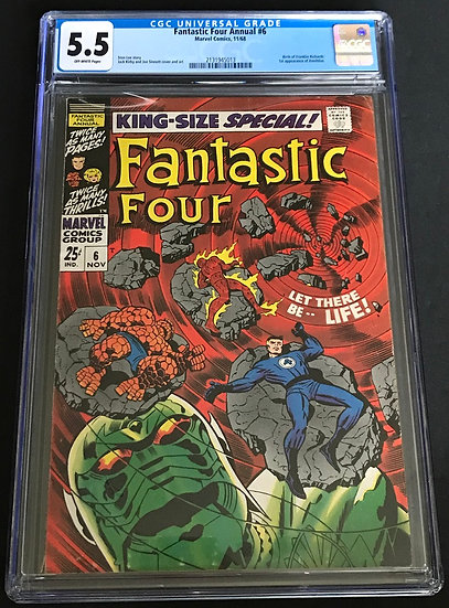 Fantastic Four (1961 1st Series) Annual #6 CGC 5.5 Off-White Pages