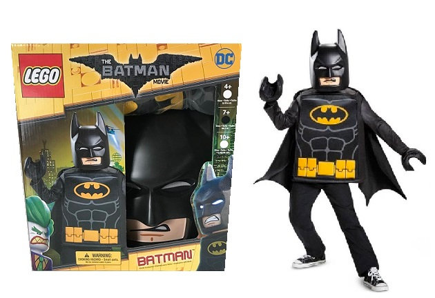 Childs LEGO Batman Movie Costume Kids Cosplay Halloween Size Medium(7-8)DC Comic