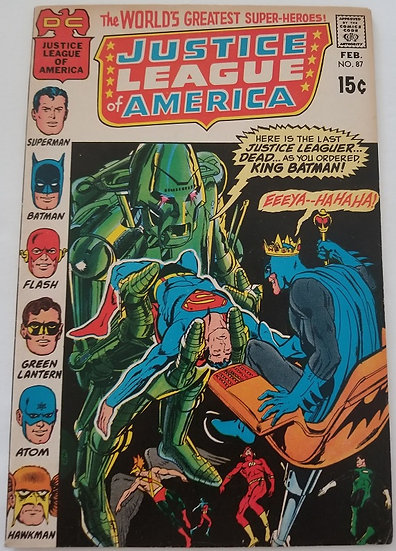 Justice League of America (1960 1st Series) #87 VF/NM