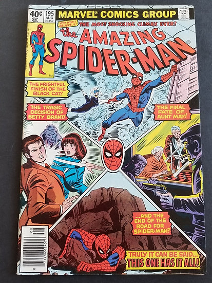 Amazing Spider-Man 195 VF+. 2nd Appearance Black Cat.