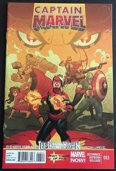 Captain Marvel (2012 7th Series) #13A NM- [1st Mohawk]