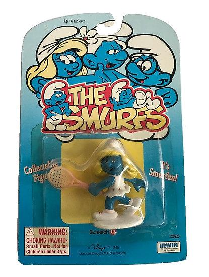 1995 Vintage The Smurfs Tennis Smurfette Figure