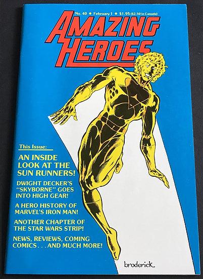 Amazing Heroes #40 FN
