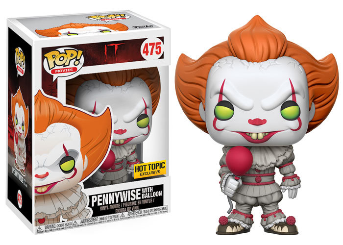Funko Pop It Pennywise With Balloon 475 Hot Topic Exclusive