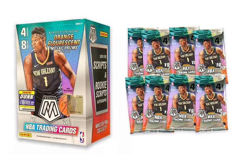 2019-20 NBA Mosaic Basketball Trading Card Blaster Box