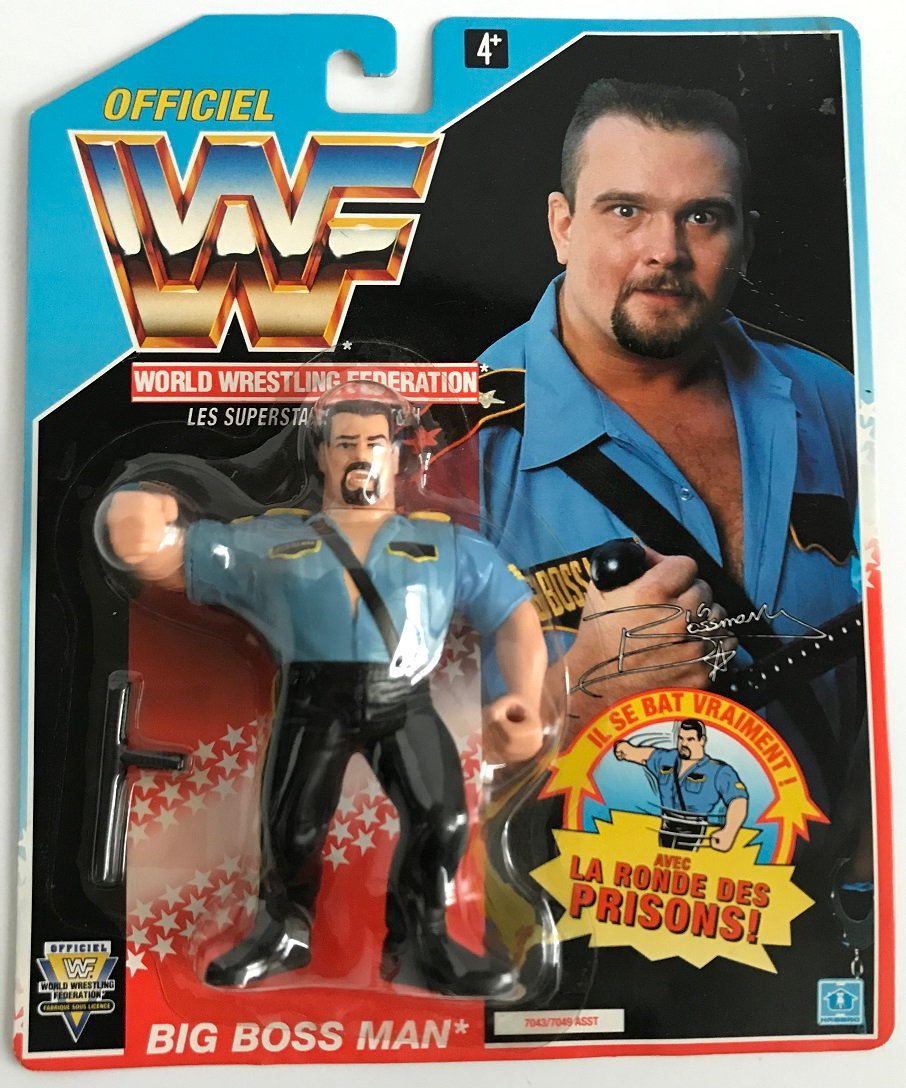 1992 Hasbro Wwf Big Boss Man Is Moc And Is A French Variant