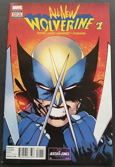 All-New Wolverine 1 NM. X-23 becomes new Wolverine.