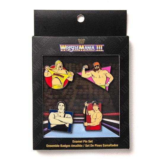 WrestleMania 3 Enamel Pin Set By Funko [Walmart Exclusive]