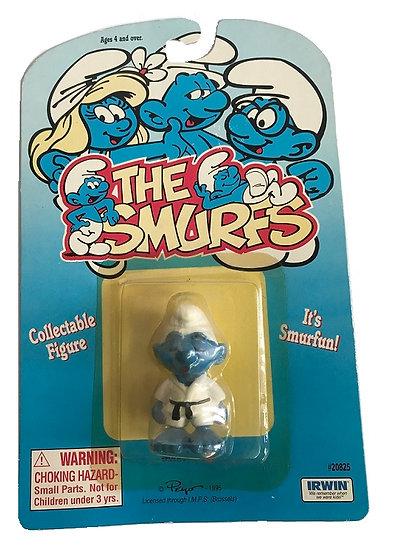 1995 Vintage The Smurfs Taekwondo Smurf Figure
