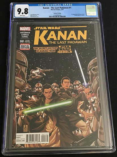Star Wars Kanan The Last Padawan #1 Second Printing  CGC 9.8 White Pages