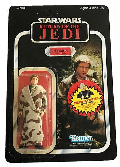 1983 ROTJ Han Solo In Trench Coat MOC 77-Back