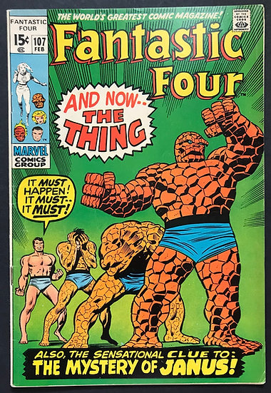 Fantastic Four #107 VF [1st Nega Man]